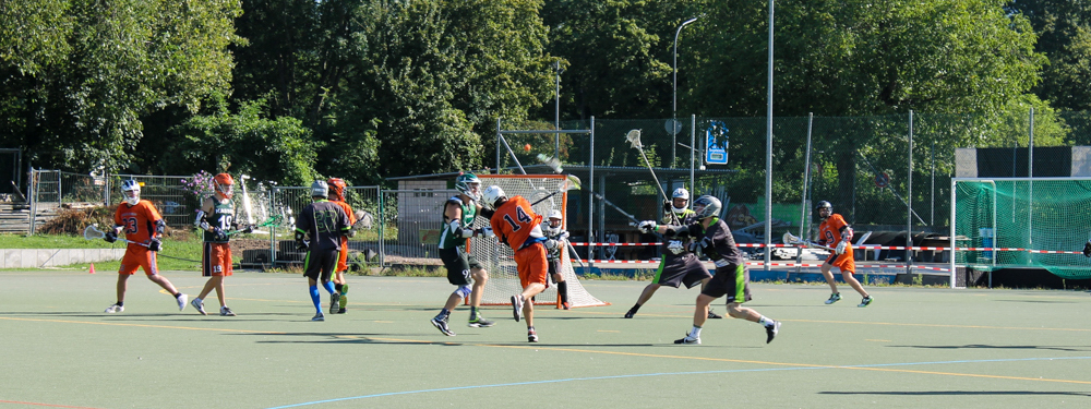Herren Lacrosse in Action